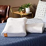 Tempur Pedic TEMPUR-Ergo Advanced Neck Relief Pillow, Soft and Firm Support Washable Cover, Assembled in the USA, 5 YR Warranty, Standard, White