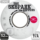 """OMG! """"THE SK8PARK RIPPERS 3"""" WHEELS 52mm WHITE スケートボード ( スケボー ) ウィール 《4個1セット》"""