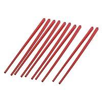 5ペアキッチン赤いプラスチック製の繁体字中国語箸8.5長