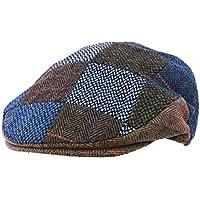 Quiet Man Collection Blue Patchwork Wool Cap Premium Quality