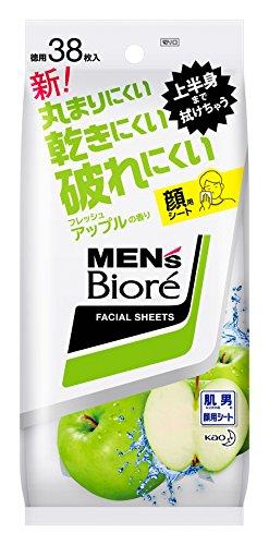 メンズビオレ 洗顔シート フレッシュアップルの香り <卓上タイプ> 38枚入