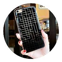 カップル迷路セットアップル6Plus携帯電話シェル,アップル7/8ラビリンス+ストラップ