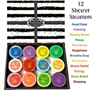 Purelis Shower Steamer Gift Box. Set of 12 Aromatherapy Shower and Bath Bombs Individually Wrapped. Organic Sh