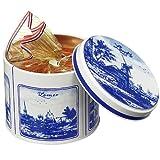 【オランダ お土産】デルフト風缶入り クリスピーワッフル3缶セット(オランダ お菓子)