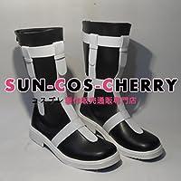 【サイズ選択可】コスプレ靴 ブーツ Z1-252 ブラック★ロックシューター ブラック★ロックシューター 性転換 女性23CM