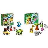 レゴ(LEGO) デュプロ はじめてのデュプロ いろいろのりものボックス 10886 知育玩具 ブロック おもちゃ 男の子 車 &  デュプロ 世界のどうぶつ どうぶつの赤ちゃん 10904 知育玩具 ブロック おもちゃ 女の子 男の子【セット買い】
