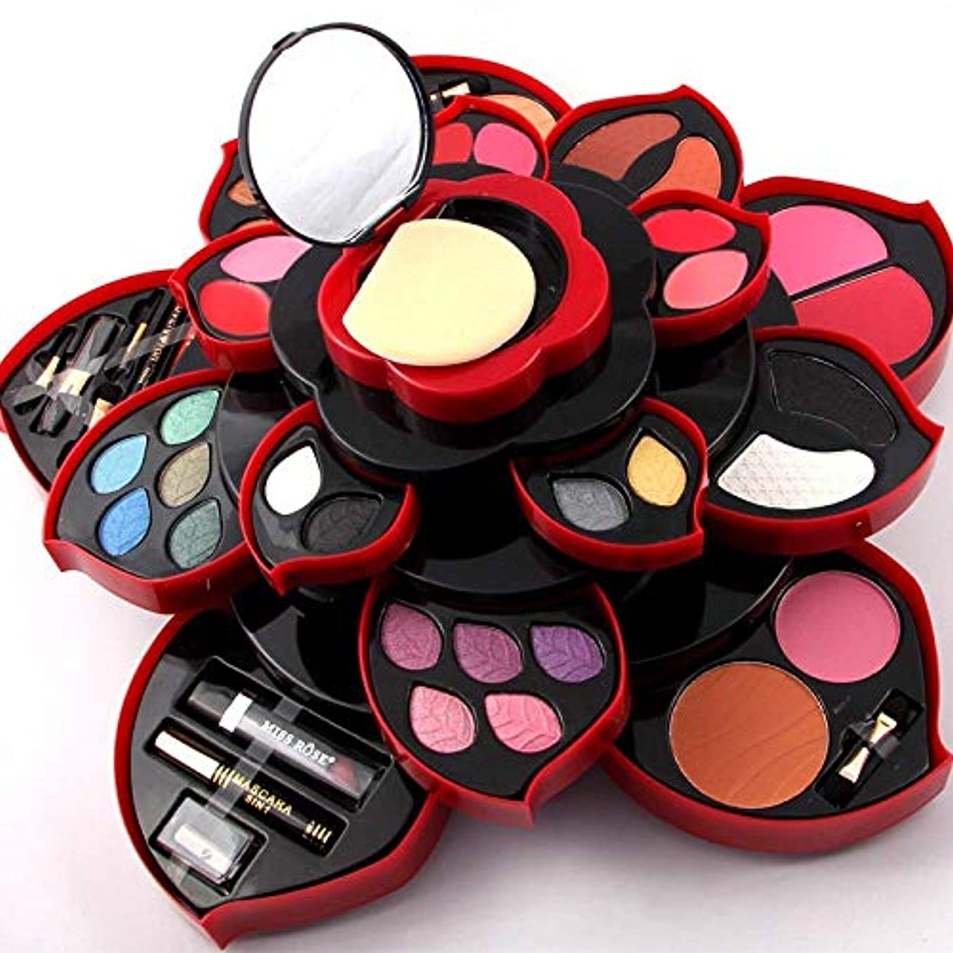 バタフライ禁じる異常アイシャドウの化粧パレット、マット&シマーアイシャドウ、化粧鏡付きの高度に着色された化粧パレット