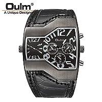 HWCOO 美しい時計 2017OulmOULMファッションウォッチダブルムーブメントスポーツウォッチアドベンチャーウォッチ (Color : 2)