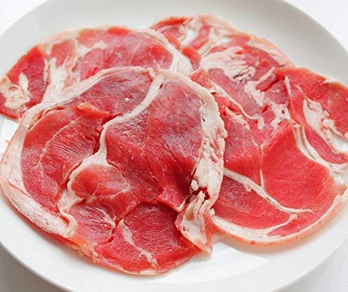 [スターゼン] ラム肉 スライス 冷凍 ラム ジンギスカン ラムショルダー ラム肩肉 羊肉 業務用 (1,17kg(390g×3パック))
