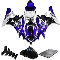 9FastMoto yamaha ヤマハ 2006 2007 YZF-600 R6 06 07 YZF 600 R6 用フェアリング オートバイフェアリングキット ABS 射出成形セット スポーツバイク カウル パネル (ブルー & ブラック) Y0922