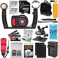 SeaLife DC2000 Pro Duo HD 水中デジタルカメラ Sea Dragon 3000ライト/フラッシュセット+64GBカード2枚+バッテリー&充電器+予備ポール+マウント+バックパックキット
