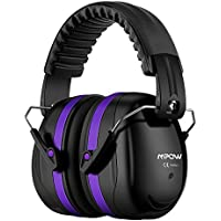 Mpow 035 Noise Reduction Safety Ear Muffs, Shooters Hearing Protection Muffs, Foldable Shooting EarMuffs, NRR 28dB Professional Ear Defenders for Shooting Hunting Season, with Carrying Bag-Dark Purple