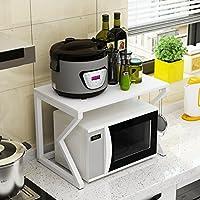 YANZHEN キッチン収納りキッチンラック収納棚キッチンラックワゴンオーブンラック 多機能 座って、 2層、 57 * 40 * 37センチメートル キッチン収納 (色 : B)