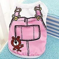 ピンクのベスト、L:ペット犬はヨーキー、チワワのためのベスト小型犬の綿の夏のかわいい小Dogie子犬猫の子猫コスチューム服服服