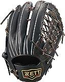 ゼット(ZETT) 軟式野球 グラブ(グローブ) プロステイタス 外野手用 右投げ用 ブラック×ブラウン(1937) サイズ:8 BRGB30017