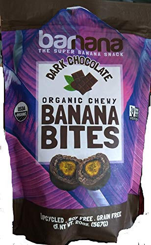 Banana Organic Dark Chocolate Chewy Banana Bites オーガニックダークチョコレートチューイーバナナバイトスナック 560g [並行輸入品]