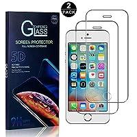 【2枚セット】 iPhone SE / 5 5S フィルム CUNUS Apple iPhone SE / 5 5S 専用設計 強化ガラスフィルム 硬度9H 超薄0.26mm スーパークリア オイル防止 気泡防止 飛散防止 耐衝撃 液晶保護フィルム