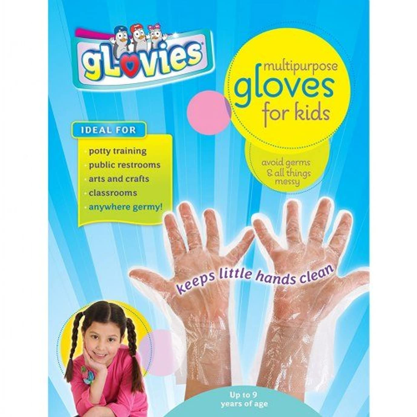 ブレイズ強い定説Glovies Multipurpose LATEX-FREE DISPOSABLE Gloves for Kids (100 Count) by gLovies 100 Count Gloves