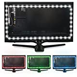 "Luminoodle Color Bias Lighting - USB LED TV Backlight with Color, Adhesive RGB Strip Lights with Wireless Remote & Built-in Controller - X-Large (41""-59"" TV)"