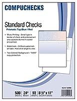 500空白チェックStock–チェックon Top–ブルー/レッド