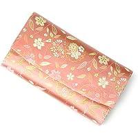茶道具 袱紗ばさみ ? 懐紙入れ 三つ折帛紗ばさみ 正絹 柳桜に花の丸