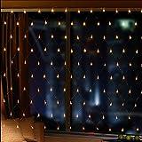 OFTEN LEDネットライト イルミネーション ガーデンライト ドレープライト 網状 連結可能 屋内外装飾 結婚式/ガーデン/パーティー/クリスマス 2m×3m 200球 3色入れ(ウォームホワイト)