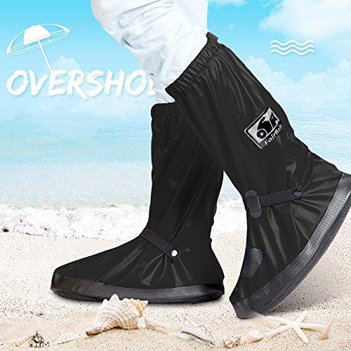 シューズカバー ロング 靴カバー 完全防水 滑り止め 泥除け...