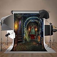 Damierハロウィン写真背景ホラー夜写真バックドロップハロウィン写真Studio小道具ホーム装飾