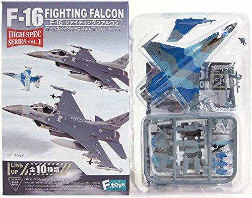 【3】 エフトイズ 1/144 ハイスペックシリーズ Vol.1 F-16C Block30 アメリカ空軍 第354戦闘航空団 第18アグレッサー部隊(ブルー迷彩) 単品