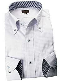 RSD160-004 (スタイルワークス) メンズ長袖ワイシャツ チェック | 灰色