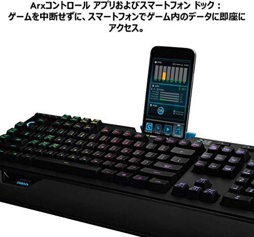 『Logicool G ゲーミングキーボード G910r ブラック メカニカルキーボード タクタイル 日本語配列 RGB パームレスト G910 Spectrum 国内正規品 2年間メーカー保証』の6枚目の画像
