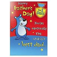 No 1Dad on父の日、父の日カード