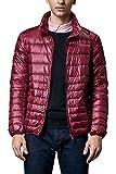Mr.Stream メンズ 軽量 ダウンジャケット アウトドア カジュアル登山防風防寒コート 収納袋付き2X-Large Red