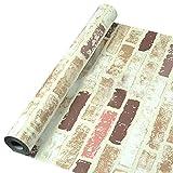 【 DIY 壁紙シール】北欧風 高品質 壁紙 はがせる レンガ はがせる壁紙 レンガ柄 ウォールステッカー 防水 粘着シートトイレ キッチン 補修 45cm*10M