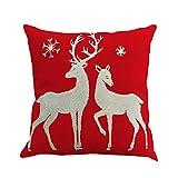 クリスマスモチーフ クッションカバー 抱き枕カバー 亜麻製 肌に優しい 汗吸い 優れる通気性 保温