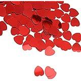 SONONIA セール お買い得 2点 輝き ハート 紙吹雪 結婚式のパーティーの装飾 振りかける 赤 10ミリメートル