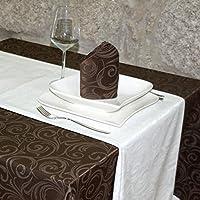 Luxuryホワイトテーブルランナー–Anti Stain Proof Resistant–パック2単位の–ref。Lyon