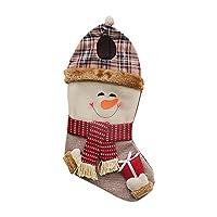 DRASAWEE(JP)クリスマス 靴下 ソックス ギフトバッグ プレゼント キャンディー 袋 クリスマス用品 クリスマスツリーの飾り 雪だるま