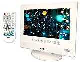 防水 お風呂 DVDプレーヤー BEX 高画質 10インチ 液晶 大容量4時間再生バッテリー リージョンフリー CD録音 MP3 再生機能付き パールホワイト
