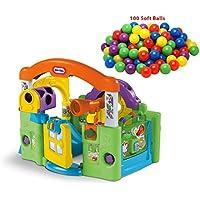 デラックスキッズand Babyアクティビティセンター、アウトドアPlay Center with ExtraソフトプラスチックKids Play Balls、Edition、Gardenプレイセットfor Kids and Baby