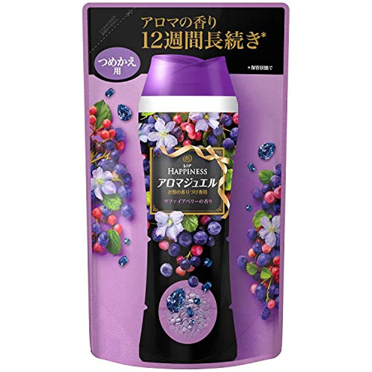 最大の多様な気づくなるレノア ハピネス 香り付け専用剤 アロマジュエル サファイアベリーの香り 詰替用 455ml x 4個セット