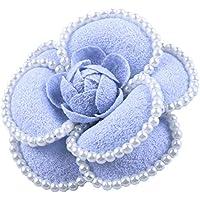 コサージュ フォーマル 選べる7色 手作り 小粒パール 花 フラワー 可愛く上品なカメリアの周りパール付きでより華やかに