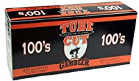 Gambler Tube Cut Regular Full Flavor 100mm RYO Cigarette Tubes 200ct Box (5 Boxes) by Premier