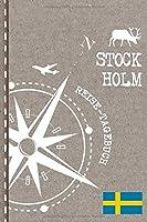 Stockholm Reisetagebuch: Reise Tagebuch zum Selberschreiben, ca. A5 - Journal Dotted Punkteraster, Bucket List fuer Urlaub, Ferien, Auslandsjahr, Au Pair, Auswanderer - Notizbuch Dot Grid punktiert