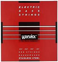WARWICK ワーウィック エレキベース弦 4弦セットステンレス 42210 RED Strings  Medium Light 040/100