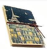 おしゃれ エッフェル塔 パリの夜空 アコーディオンタイプのフォトアルバム ブラック