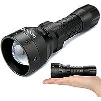 UniqueFire UF1407 940NM IR LED懐中電灯赤外線ライト38MM凸レンズアルミトーチナイトビジョン狩猟ライト