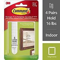 コマンドとフレーム吊り下げストリップ、4-pairs ( 17206-es、ホワイト、L ) 24 Pairs 17206-6ES (4PK) 1