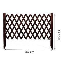 LIXIONG ボーダーフェンス ガーデンフェンス屋外の 拡大する フェンス デコレーション 工場 ピケット フェンシング 木製 連動 パネル 動物 バリア にとって 中庭、 3色 (Color : Brown, Size : B-250x120cm)