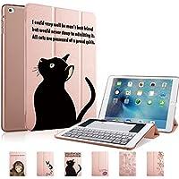 MIxUP iPad mini4 スマート カバー バック ケース 一体型 オートスリープ mini 4 スタンド ケースカバー 黒猫 ネコ 猫 ローズ ゴールド MXP-smM4-bkcat/RGD